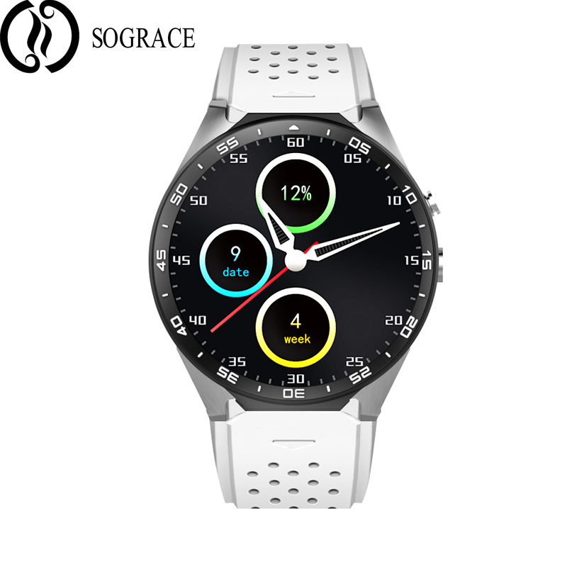 SOGRACE 2018 Smart Watches KW88 Watch Phone WIFI Pedometer Heart Rate Test IOS Android Connection 3G Camera Watch Phone Sim 35 bounabay camera bluetooth smart woman pedometer watch apple android phone waterproof watches clock touch women heart rate clocks