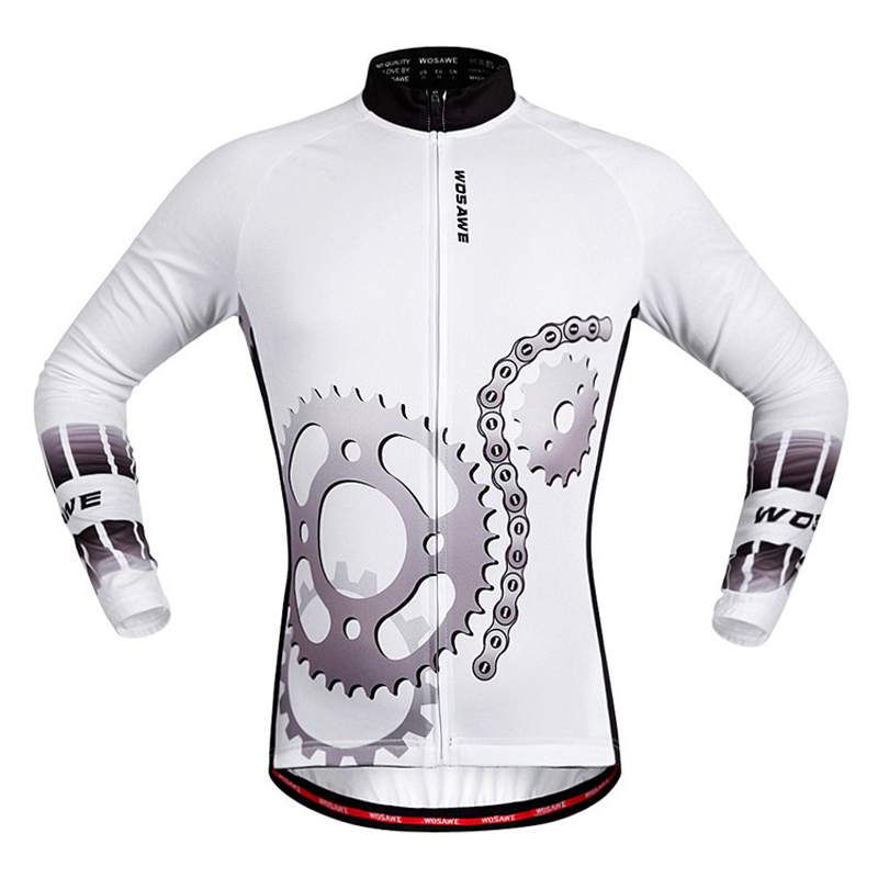 Cycling Clothing Shirt Long-Sleeve Men for All-Season Quick-Dry Men's