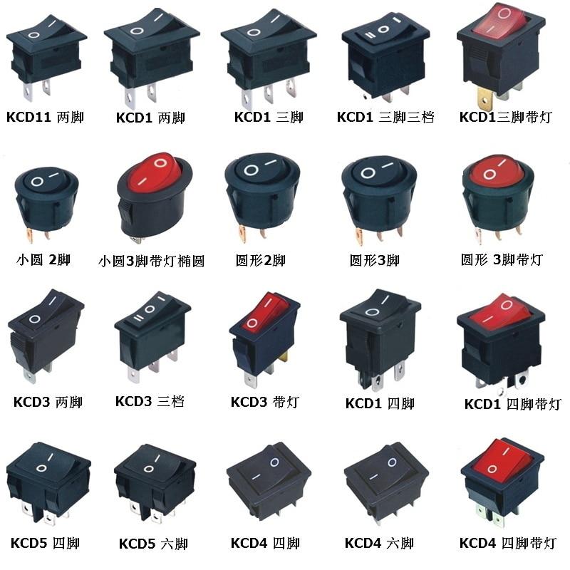 5 pièces Mini schakelaar étanche rond outil électrique bascule bouton poussoir interrupteur on off avec lumière 19mm 3 broches équipement accessoires