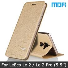 Original Mofi  Brand letv leeco le 2 pro case leeco le2 Flip Leather cover + Stand holder TPU Soft cover For letv le 2 X620 case