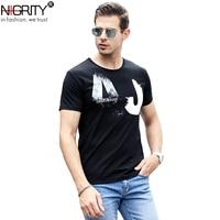 NIGRITY мужская мода новое поступление американский стиль мужественный модальный хлопок футболка удобный размер M-4XL