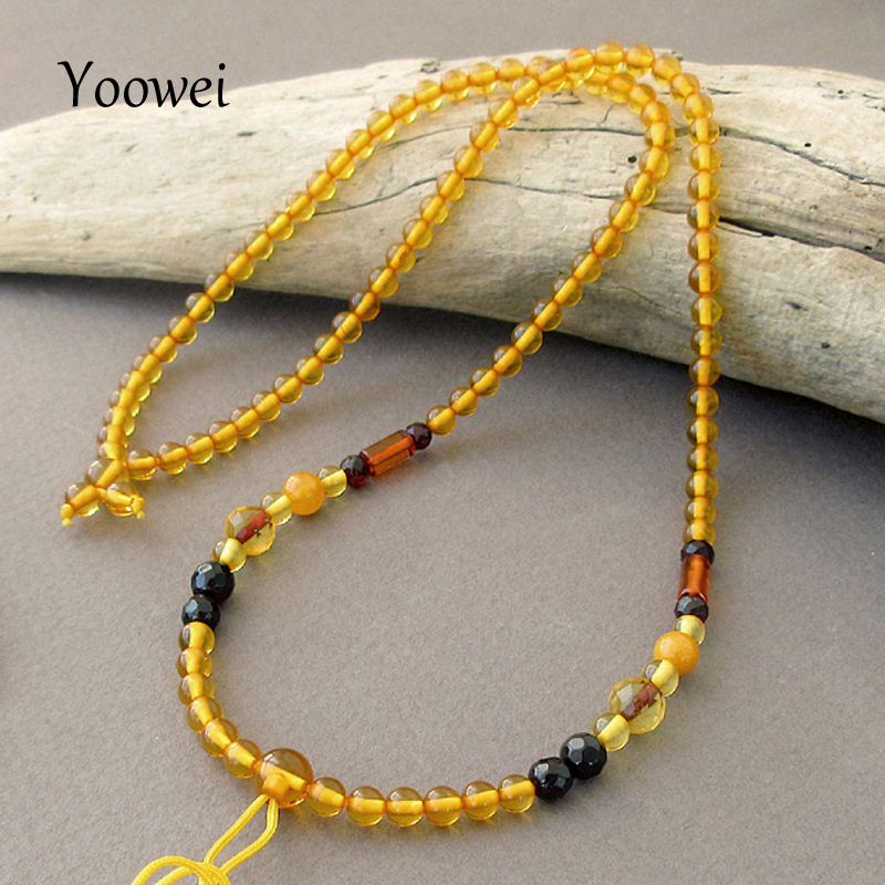 Yoowei Wholesale 4.2mm Amber Necklace for Gift Genuine Round Bead 100% Original Pure Natural Baltic Amber Women Jewelry SuppliesYoowei Wholesale 4.2mm Amber Necklace for Gift Genuine Round Bead 100% Original Pure Natural Baltic Amber Women Jewelry Supplies