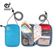 ECOSUSI RFID Paso piniginės Aukštos kokybės paso turėtojas Patogumas Paso krepšys For Pass Port ID Banko kortelės Organizatorius Krepšys