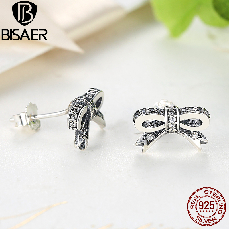 Image 5 - Genuine 925 Sterling Silver Jewelry Set Sparkling Bow Knot Stackable Ring Jewelry Sets Sterling Silver Jewelry WES022silver jewelry setsterling silver jewelry setjewelry sets -
