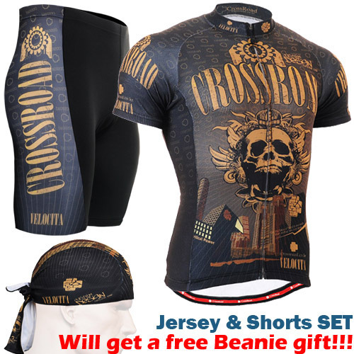2016 bike clothes sets gold skull sublimation cycling jersey sets with riding shorts 3d gel padded size s-3xl