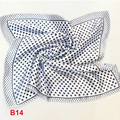 Estrela da moda Marca Mulheres de Alta Qualidade Pequeno Lenço Quadrado Impresso Lenço De Seda 50 cm bandanas lenço lenço silencioso B14