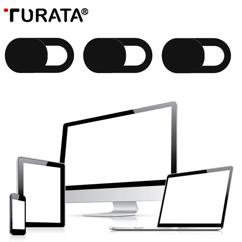 TURATA 3pcs WebCam Shutter Slider Plastic Camera Cover Sticker For iPad Phone Web Laptop