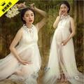 Белый беременным кружевном платье беременных фотографии реквизит необычные беременность материнство фотосессии длинное платье рубашка бесплатная доставка