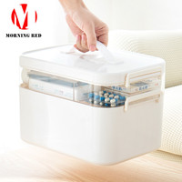 Household Home Portable First Aid Kit Multilayer Medicine Box Plastic Storage Organizer Large Capacity Layered Medicine Chest