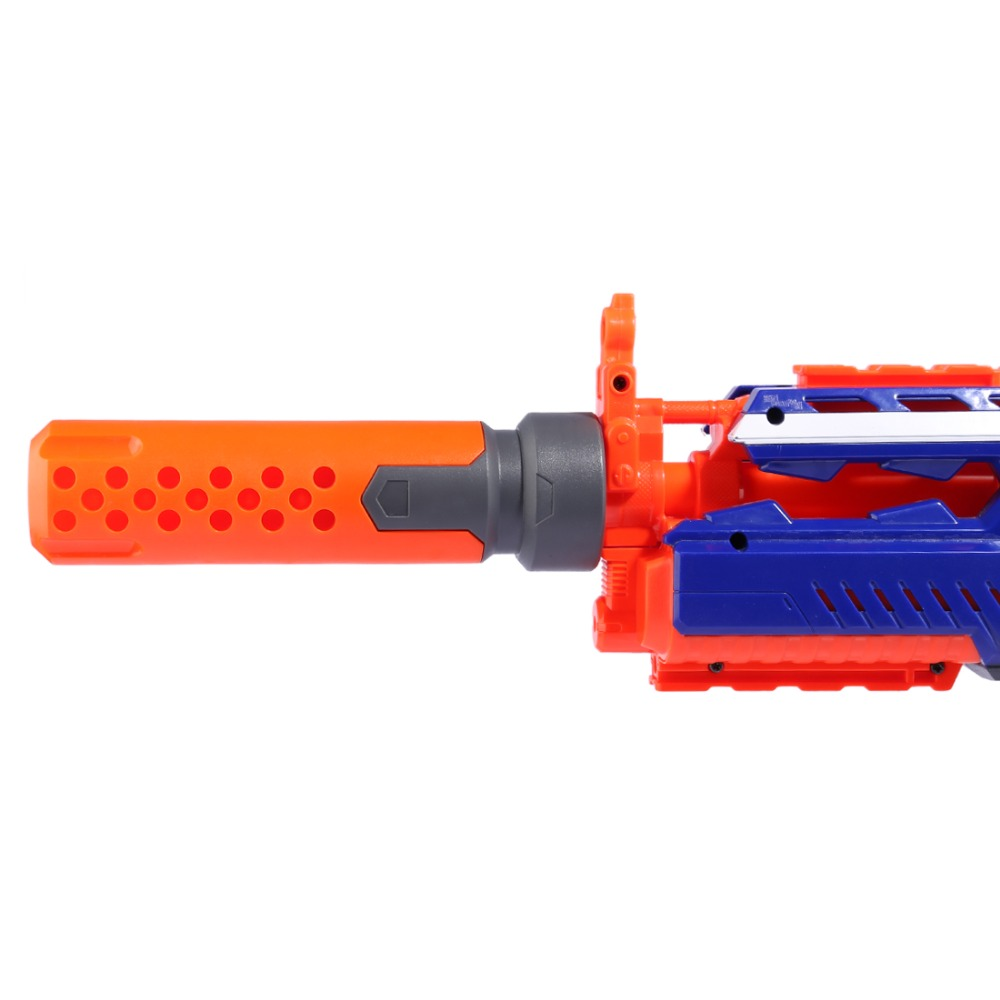 Modified Front Tube Decoration For Nerf - Orange + Grey  For Nerf Gun Modification