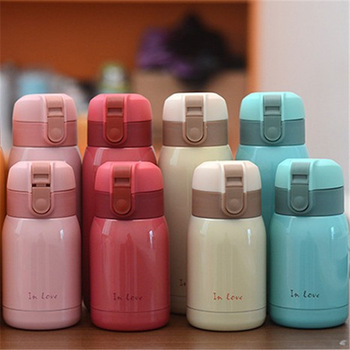 2018 Hot Sale New Cute Mini thermos Stainless Steel Vacuum Cup light and portable kids water bottle Coffee Tea Mugs