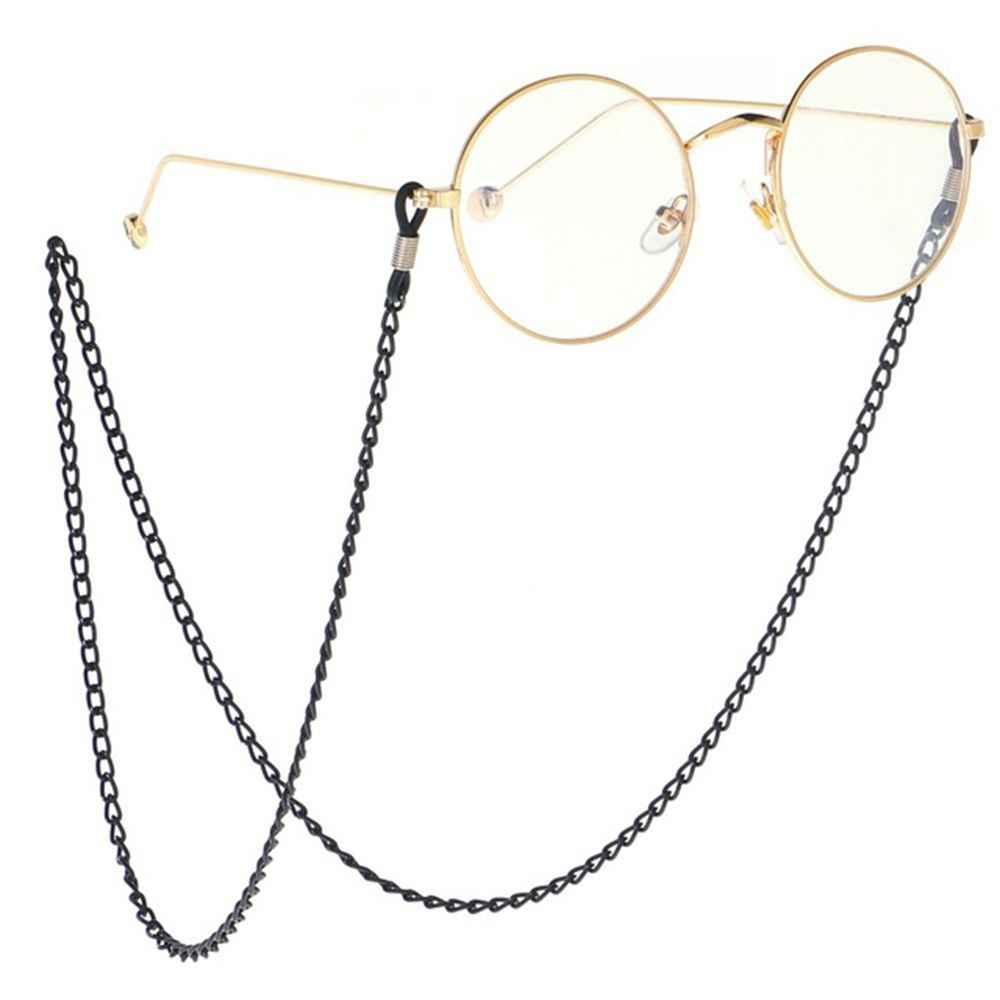 Mais recente moda óculos de sol cordão cinta colar óculos de metal corrente cabo leitura óculos cinta