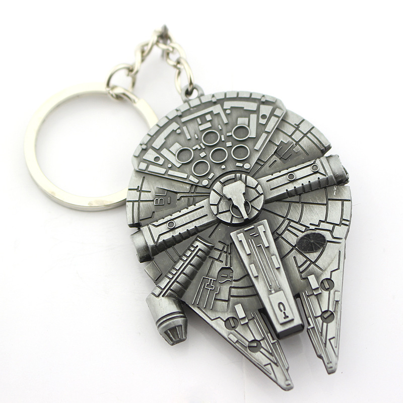 Bespmosp Movie Star Wars Spaceship Logo Metal Pendant Key Chains Rings Keyrings Keychains Men Boys Gift Car Bags Keyfob Jewelry