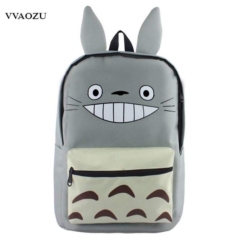 Japan Anime Totoro Canvas Backpack Bookbag Mochila Escolar For Men Women Cosplay Back Pack Schoolbag Rucksack With Long Ears