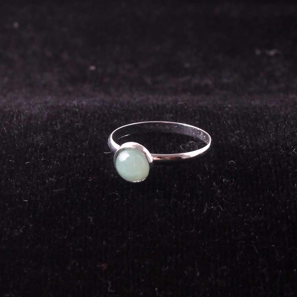Druzy เส้นผ่านศูนย์กลาง 6mm สุ่มผสม Onyx & Anyolite & หินทรายสีฟ้าหินธรรมชาติแหวนผู้หญิงควอตซ์คริสตัลแหวนขายส่ง