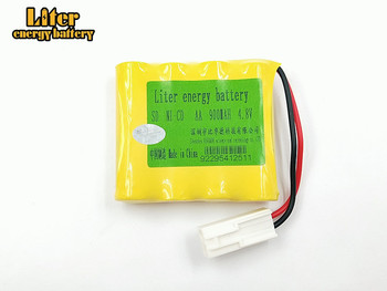 Rechargeable Battery 4.8V 900mAh AA 4 in 1 Ni-Cd battery set Shuangying RC Car E519 E511 Battery With EL-2P Plug image
