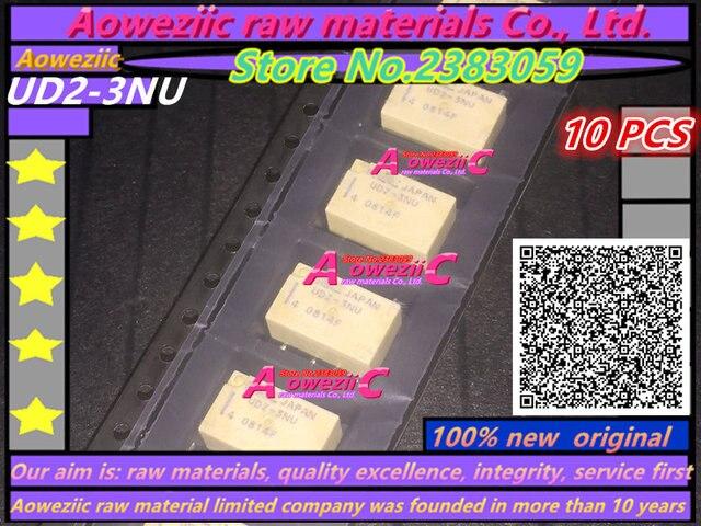 Aoweziic relé de UD2 3NU 3V, UD2 4.5NU, 4,5 V, UD2 5NU, 5V, UD2 12NU, 12V, 10 Uds.