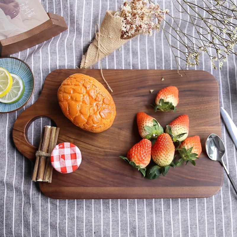 Přírodní dřevo krájecí deska ovoce dřevěné krájecí desky chléb talíř Antibakteriální sekání kuchyňských spotřebičů