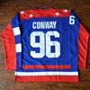 MM MASMIG Charlie Conway 96 Team USA Ice Hockey Jersey Mighty Ducks Stitched Blue
