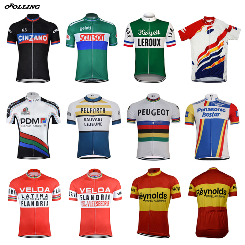 Multi Styles New Retro Team Cycling Jersey Customized Road Mountain Race Top Classical OROLLING