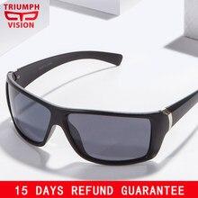 557a7a315b TRIUMPH VISION Polaroid Night Driving Sunglasses Men Wrap Style Shades  Polarized Anti-Glare Sun Glasses for men Cool Oculos