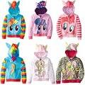 2017 My Cute little Girl ponys Kids Cartoon Jacket Children Jaqueta Outerwear & Coats Meninas Jackets for spring and autumn