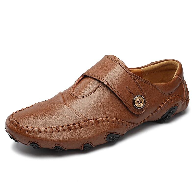 Moda británica de estilo genuino Causal zapatos de los hombres de - Zapatos de hombre - foto 2
