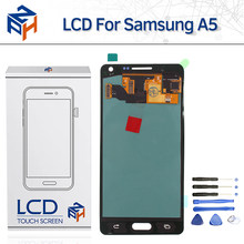 "Tested AAA OLED LCD For Samsung Galaxy A500 SM-A500F A500M A5 2015 LCD Display Touch Screen Digitizer Assembly 5"" Pantalla+Tools(China)"