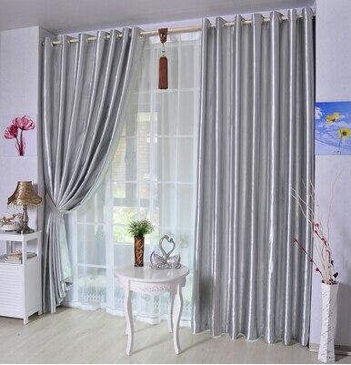 Ispessimento moderno 80% blackout cortina di stoffa di sole-ombreggiatura anti-uv balcone bianco, argento, viola, Champagne, rosa tende ombra