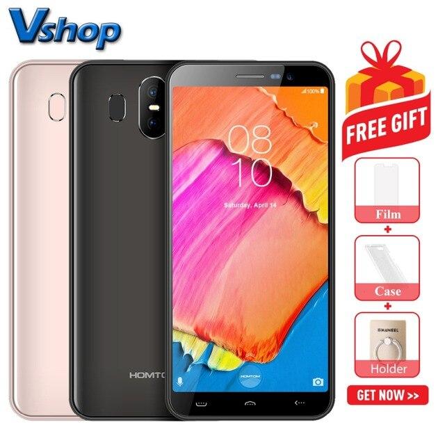 Téléphone portable Original HOMTOM S17 3G Android 8.1 2 GB RAM 16 GB ROM Smartphone Quad Core double SIM 5.5 pouces 13MP téléphone portable avec identification faciale