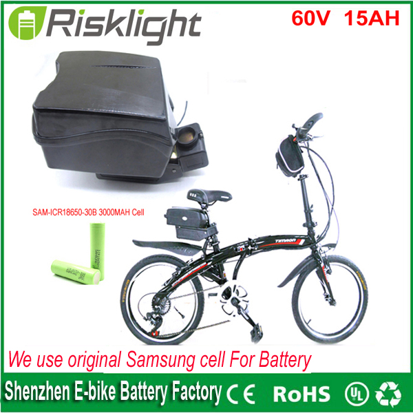 lithium ion ebike battery pack 60V 15Ah 1000w 1500w  frog stype battery with Charger and bms  for e-bike  For Samsung cell 30a 3s polymer lithium battery cell charger protection board pcb 18650 li ion lithium battery charging module 12 8 16v
