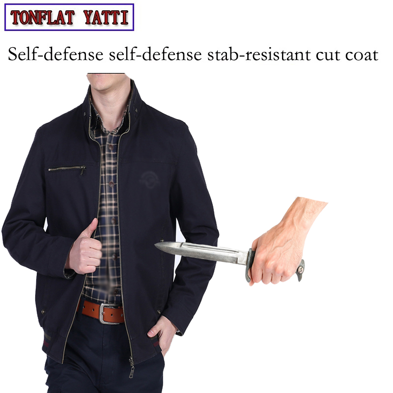 Self Defense Security Anti-cut Anti-Sta Hack Wear On Both Sides Jacket Military Stealth Defensa Police Personal Tactics Clothing