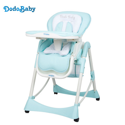 Dodobaby2017 baby dining chair child dining table chair multifunctional folding portable chair the silver chair