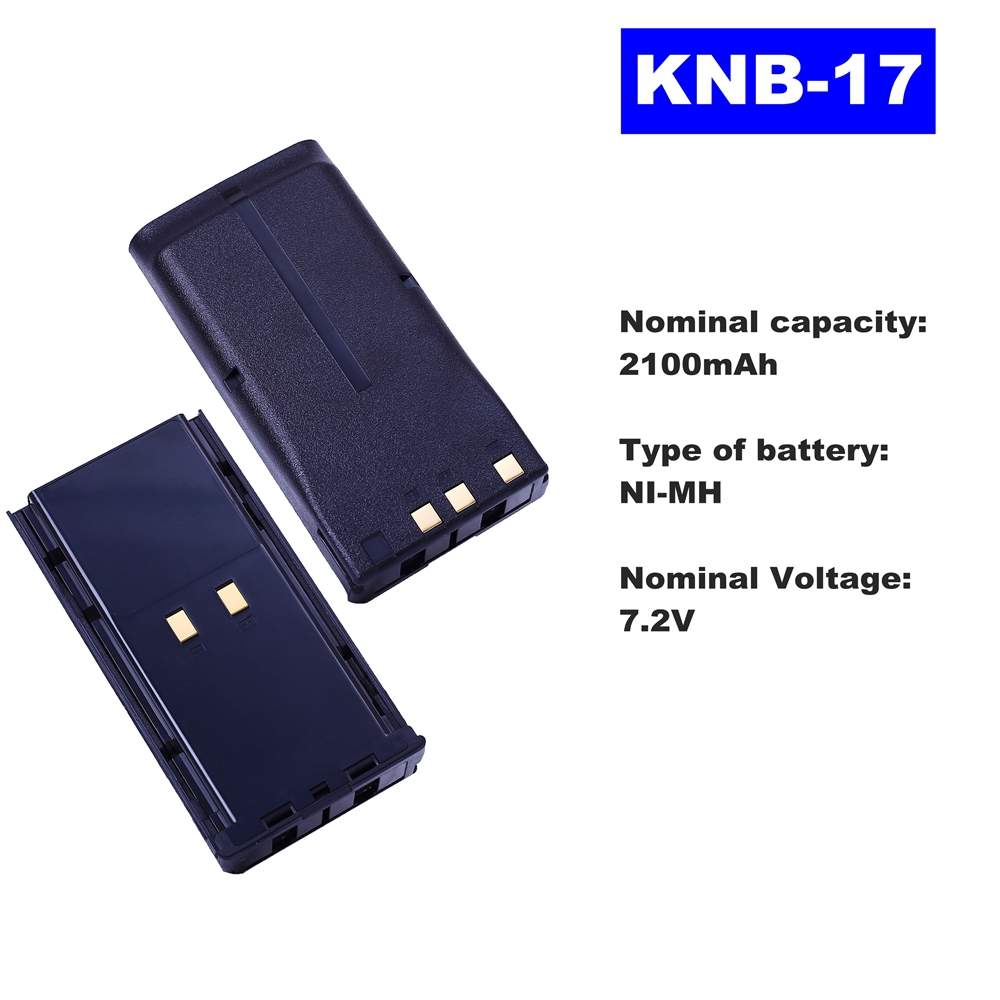 7.2V 2100mAh NI-MH Radio Battery KNB-17 For Kenwood Walkie Talkie TK-385/480 TK280/380/481/290/390 Two Way Radio