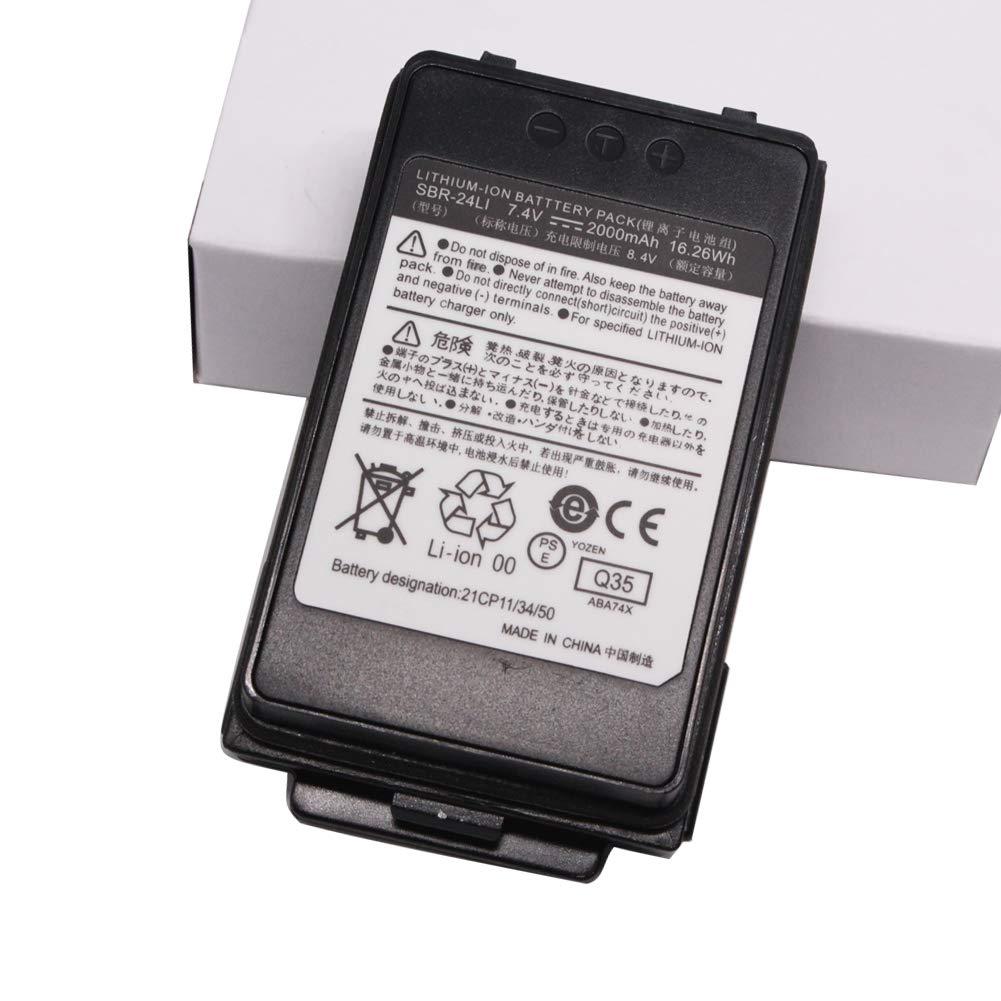 SBR-24Li 2000mAh Li-ion Battery For Yaesu FT-70D FT-70DR Radio SBR24Li Rechargable Battery For FT-70D FT-70DR