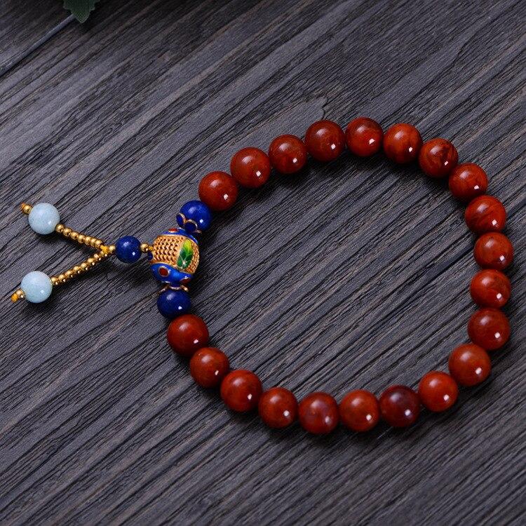 Fashion 8mm Red Southern Bracelet with Enamel Women Gift Jewelry Single String Bracelet NH002 fashion 5mm red southern bracelet women gift jewelry three several string long bracelet nh012