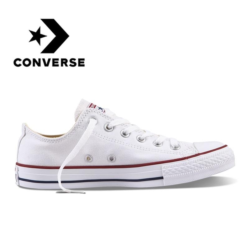 bae155a50 Converse All Star Sapatos de Skate Unissex Homens Esportes Ao Ar Livre  Casuais sapatas de Lona