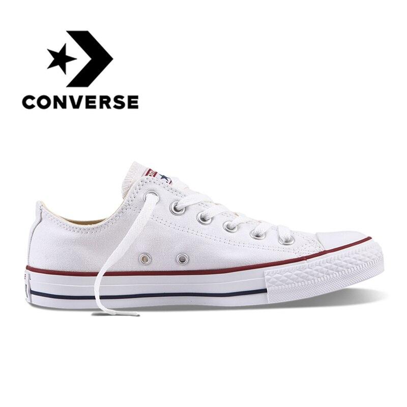 Converse All Star Unisexe Planche À Roulettes Chaussures Hommes Sports de Plein Air Casual Classique Toile Femmes Anti-Glissante Sneakers Low Top Chaussures