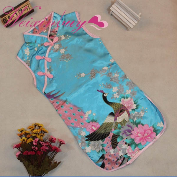 2017 New Classic Children Kid Baby Girl Chinese Peacock -1028