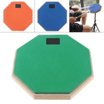 8 Cal gumowy drewniany głupi bęben trening treningowy bęben Pad na bębny jazzowe ćwiczenia z 3 kolorami opcjonalnie tanie i dobre opinie NoEnName_Null Other Size 8 Inch 10 cal