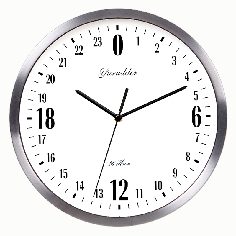 Newest 24 Hour Dial Design 12 Inches Metal Frame Modern Fashion Decorative Round Wall Clock Round Wall Clock Designer Wall Clockfashion Wall Clocks Aliexpress