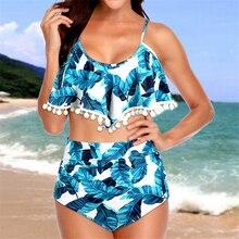 цены Bikini Set High Women's Print Swimwear Bikini Swimwear Bandage Tankini Beach Wear Two Piece Swimwear Swimming Costume Bikinis