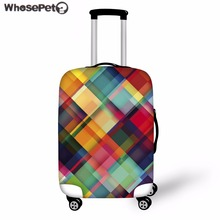 WHOSEPET Case Cover 3D Patchwork Print Suitcase Protective Covers Luggage Protect Covers for Women Men Eleastic Dust Bags Travel