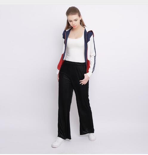 2018 Весна Лето Мода Высокая талия шифон широкие брюки женские большие размеры Свободные повседневные Девять ярдов брюки для женщин