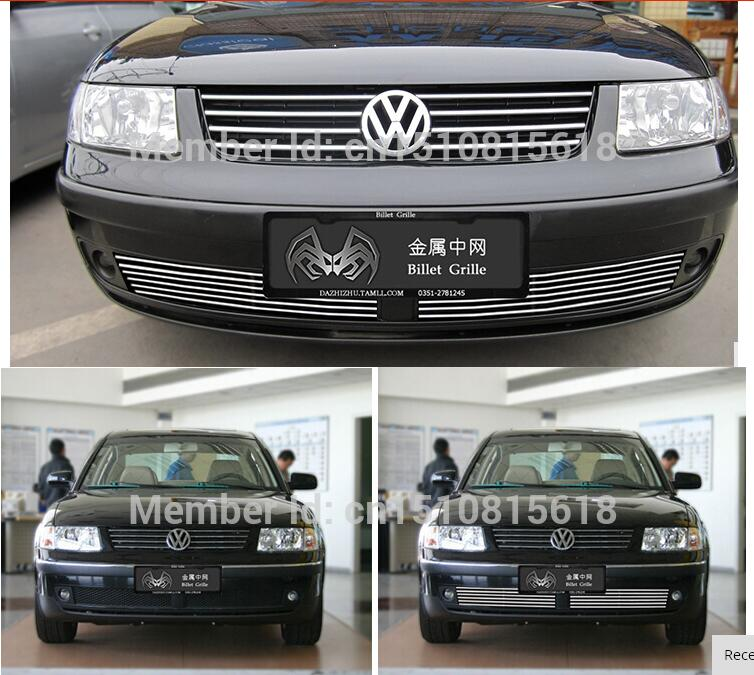 Stainless steel Car front bumper Mesh Grille Around Trim Racing Grills 2004-2007 for Volkswagen Passat b5 Quality