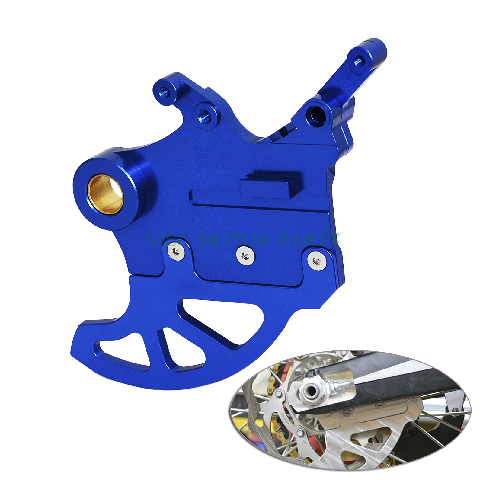 H2CNC Brake Disc Guard Protector For Yamaha YZ125 YZ250 2006-2017 YZ250F YZ450F 2006-2008 Motocross Enduro Supermoto motorbike scooter cnc aluminum alloy rotatable spinable cooling fan cap cover protector guard for yamaha bws x 125 cygnus 125