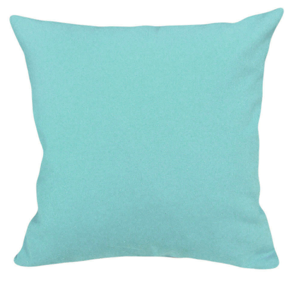 French Twill Turquoise Zippered Cushion Cover is one of our top selling solids. Brushed finish, upholstery grade heavy poly cotton twill that is soft to the touch and durable. Easily coordinates with a variety of other solids, floral, plaids, and stripes. Perfect slipcover choice for high traffic areas.