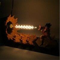 DBZ Goku Dragon Ball Z Son Led Night Light Vegeta Super Saiyan Table Lamp Strength Bomb Warm White Desk Light EU US 110V 220V