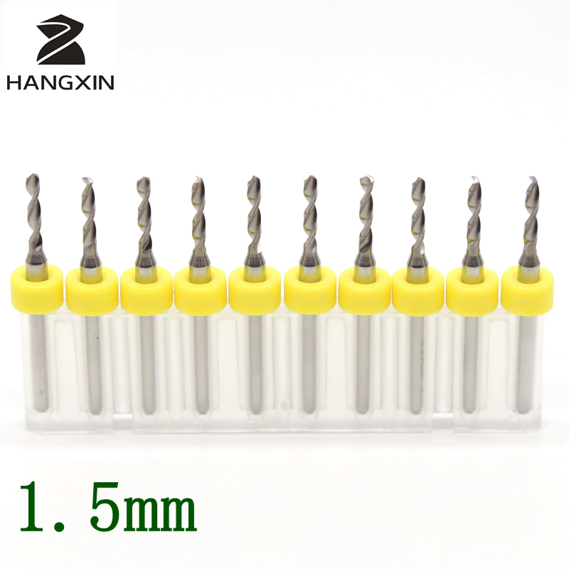 1.5mm PCB Drill Kit Tools 10PCS Tungsten Carbide CNC Router Wood Bit Metal Circuit Board Laser Engraving Machine Accessories 10pcs tungsten steel hard alloy pcb cnc drill bits for circuit boards