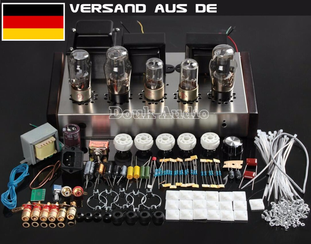 Handmade HiFi 6N8P+6P3P Single-Ended Pure Class A Valve Tube Amplifier Vacuum Tube Stereo Power Amplifier DIY Kit douk audio pure handmade mini 6p3p vacuum tube amplifier 2 0 channel stereo hifi class a power amp 5w 2